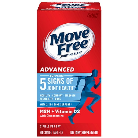 Schiff Move Free Advanced Plus MSM & Vitamin D3 Dietary Supplement, Tablets