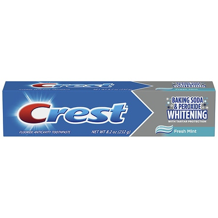 Crest Baking Soda & Peroxide Whitening with Tartar Protection Toothpaste Fresh Mint