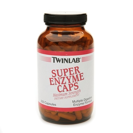 Twinlab Super Enzyme Caps Maximum Strength Dietary Supplement Capsules