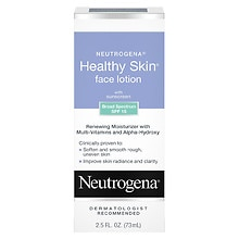 Neutrogena Healthy Skin Face Lotion, with SPF 15 Multivitamin Facial Treatment With Alpha Hydroxy