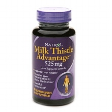 Milk Thistle Advantage 525 mg Dietary Supplement Vegetarian Capsules