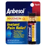 Anbesol Maximum Strength Instant Pain Relief Maximum Strength Liquid
