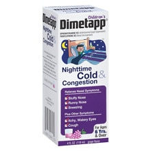 Children's Nighttime Cold & Congestion Liquid, Grape Flavor