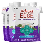 EAS Advantage AdvantEdge Carb Control Nutritional Shakes 4 Pack French Vanilla