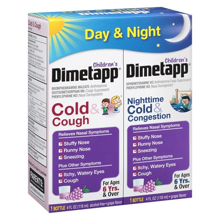 Children's Dimetapp Cold & Cough/Congestion - Day/Night Value Pack Grape