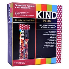 KIND Plus Nutrition Bars Plus Antioxidants Cranberry & Almond