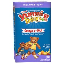 Yummi Bears DHA Dietary Supplement Gummies