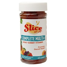 Slice of Life Complete Multi+ Gummy Vitamins for Adults Fruit