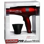 BaByliss PRO Ceramix Xtreme Professional Turbo Dryer Red