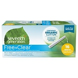 Seventh Generation Chlorine-Free Organic Applicator Tampon Regular, 16 ea
