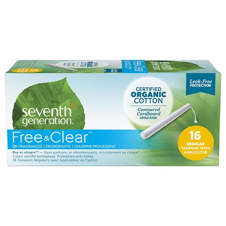 Seventh Generation Chlorine-Free Organic Applicator Tampon Regular