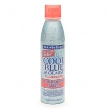 Fruit Of The Earth Aloe Vera Cool Blue Aloe Mist Continuous Spray Cool Breeze Large Blue 30 x 36