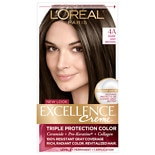 L'Oreal Paris Excellence Triple Protection Permanent Hair Color Creme Dark Ash Brown 4A Cooler