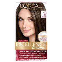 Triple Protection Permanent Hair Color Creme, Dark Ash Brown 4A Cooler