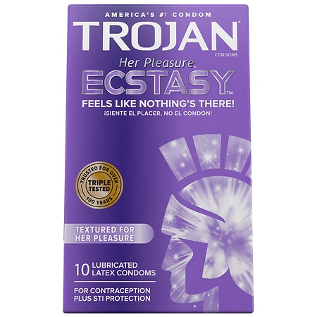 Trojan Her Pleasure Ecstasy UltraSmooth Lubricated Premium Latex Condoms