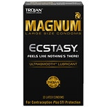 Trojan Magnum Ecstasy UltraSmooth Lubricant Premium Latex Condoms