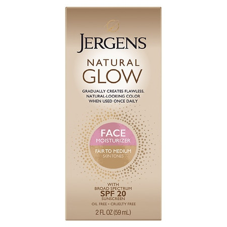 Jergens Natural Glow Healthy Complexion Daily Facial Moisturizer SPF 20 Fair to Medium Skin Tone