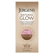 Jergens Natural Glow Daily Facial Moisturizer SPF 20 Medium to Tan Skin Tone