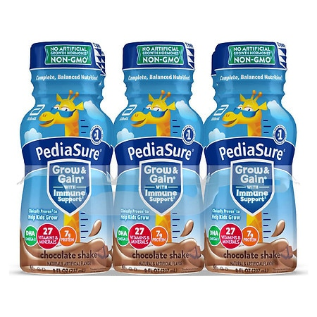 PediaSure Complete, Balanced Nutrition Shake Chocolate,8 fl oz Bottles