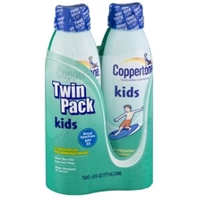 Coppertone Kids Sunscreen, Clear Continuous Spray, SPF 50, Twin Pack