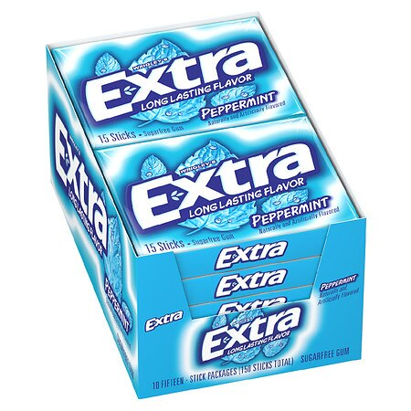 Extra Sugarfree Gum Peppermint, 10 pk