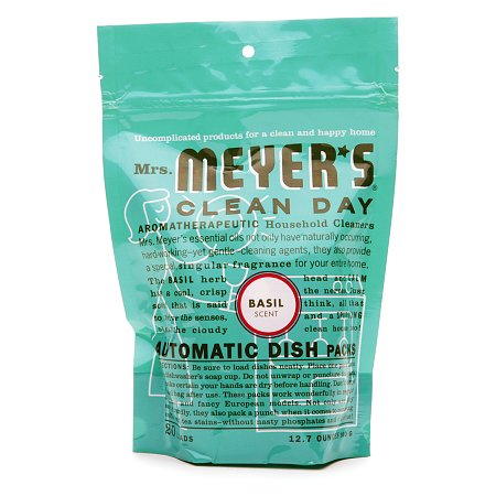 Mrs. Meyer's Clean Day Automatic Dishwashing Packs Basil,20 Loads