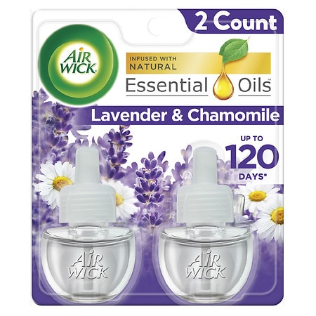 Air Wick Scented Oil Refills 2 Pack Relaxation, Lavender & Chamomile