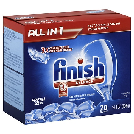 Finish Gelpacs Dishwasher Detergent Fresh