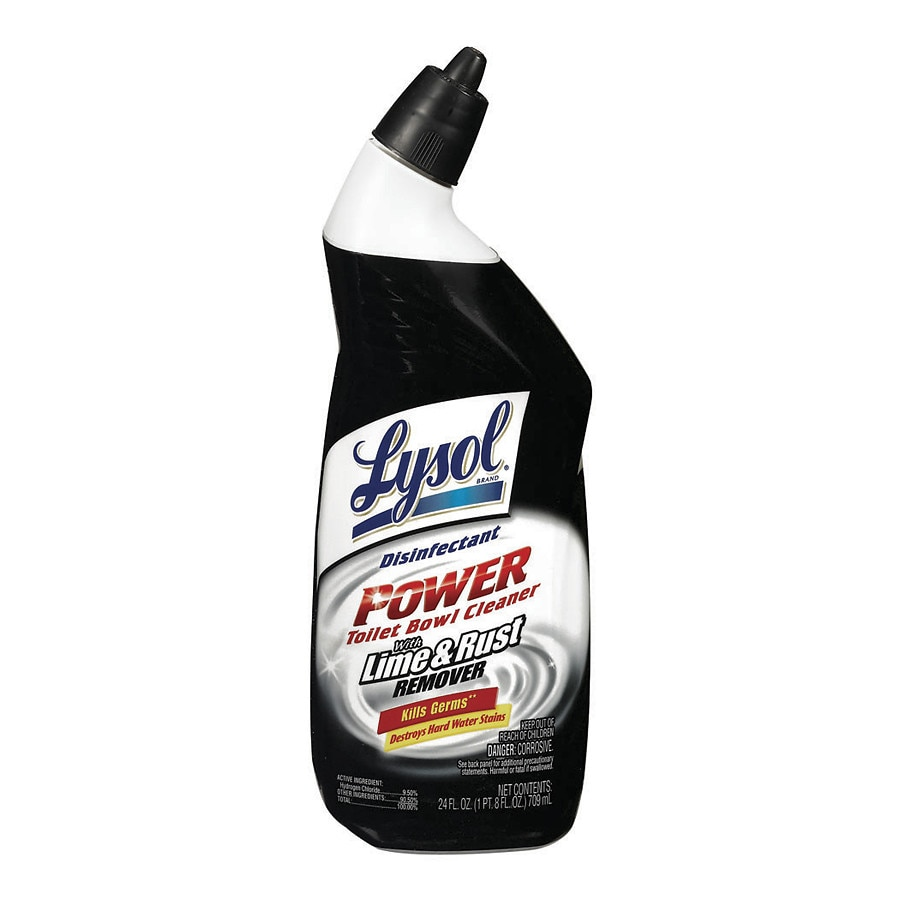 Lysol power toilet bowl cleaner with rust lime remover for Sanivac concentrate bathroom cleaner and lime remover
