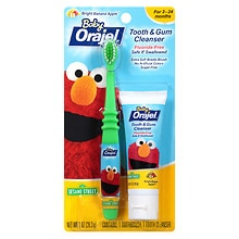 Orajel Baby Tooth & Gum Cleanser Sesame Street Bright Banana Apple