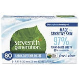 Seventh Generation Natural Fabric Softener Sheets Free & Clear