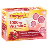 Emergen-C 1000 mg Vitamin C Dietary Supplement Cranberry Pomegranate Fizzy Drink Mix Cranberry Pomegranate