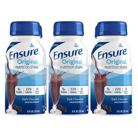 Ensure Nutrition Shakes Liquid 6 Pack Rich Dark Chocolate