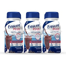 Ensure Plus Nutrition Shakes Liquid 6 Pack Rich Dark Chocolate