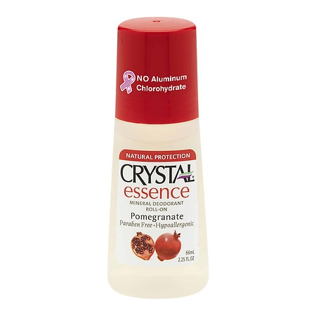 Crystal Essence Mineral Deodorant Essence Mineral Deodorant Roll-On Pomegranate