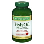 Odorless Fish Oil 1200 mg Dietary Supplement Softgels