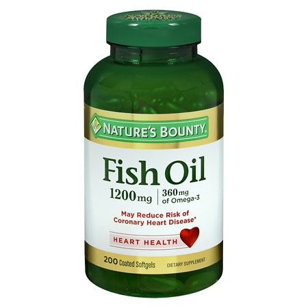 Nature 39 s bounty odorless fish oil 1200 mg dietary for What is fish oil pills used for
