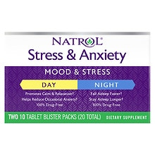 Stress & Anxiety Day & Night Dietary Supplement Tablets