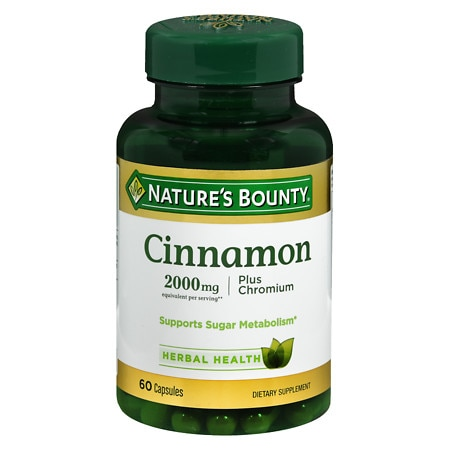 Nature's Bounty High Potency Cinnamon 2000 mg Dietary Supplement Capsules