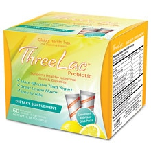 Global Health Trax Threelac Probiotic Dietary Supplement Packets Lemon