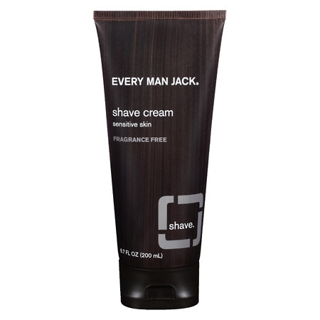 Every Man Jack Shave Cream, Sensitive Skin Fragrance Free