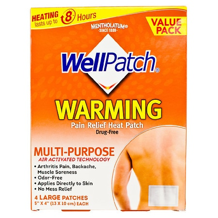 WellPatch Warming Pain Relief Patches Large