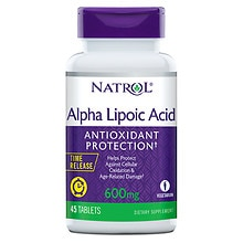 Natrol Alpha Lipoic Acid TR Time Release 600 mg Tablets