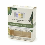 Aura Cacia Electric Aromatherapy Air Freshener Refill Refreshing Lime & Grapefruit
