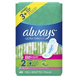 Always Ultra Thin Pads with Wings Fresh,Long/Super