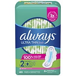 Always Fresh Ultra Thin Long Super Pads with Flexi Wings, 40 ea Super, 40 ea Super Absorbency