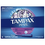 Tampax Pearl Tampons with Pearl Plastic Applicator Unscented