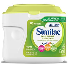 Similac Sensitive RS Infant Formula 23.2 oz Container makes 168 Fluid Ounces