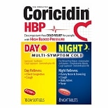 Coricidin HBP Day & Night Multi-Symptom Cold Softgels & Tablets