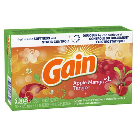 Gain Dryer Sheets Apple Mango Tango